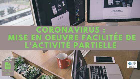 coronavirus - sofigec - activité partielle